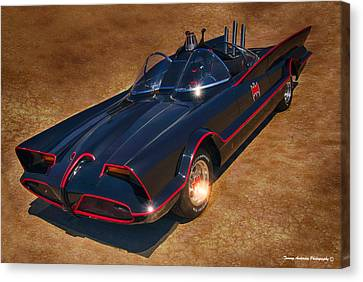 Batmobile Canvas Print by Tommy Anderson