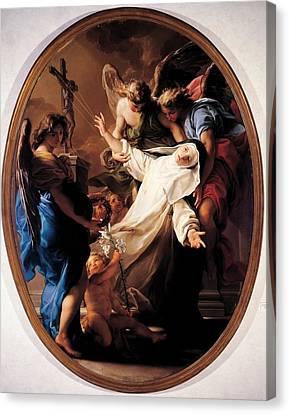 Batoni Pompeo Girolamo, Ecstasy Of St Canvas Print by Everett