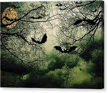 Bats From Hell Canvas Print by Barbara S Nickerson