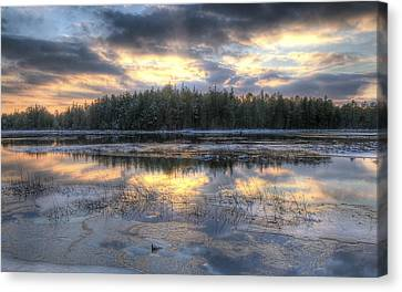 Batsto Lake Sunset1 Canvas Print
