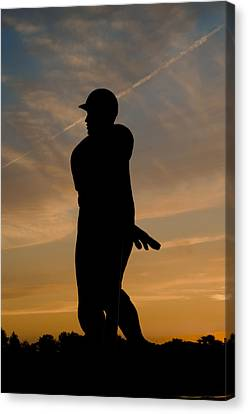 Batter At Dawn - Phillies Canvas Print by Bill Cannon