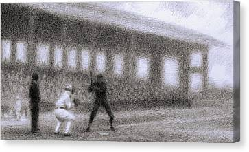 Batter Canvas Print by Steve Dininno