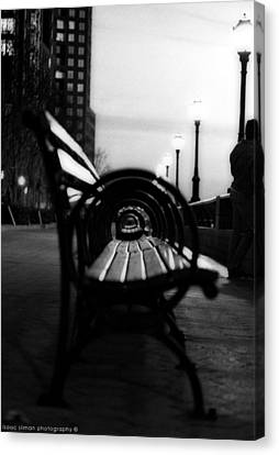 Battery Park Bench Canvas Print by Isaac Silman
