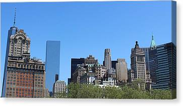 Battery Park Canvas Print by Suzanne Perry