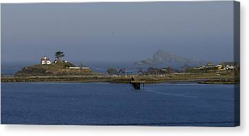 Battery Point Lighthouse And Castle Rock Canvas Print