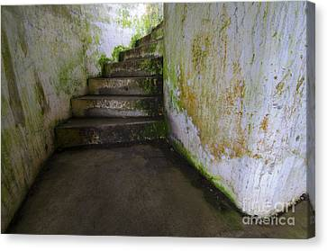 Fort Stevens State Park Canvas Print - Battery Russell Oregon 3 by Bob Christopher