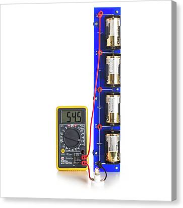 Battery Test Circuit Canvas Print