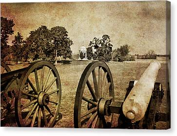 Battle Line At Antietam Canvas Print by Mick Burkey