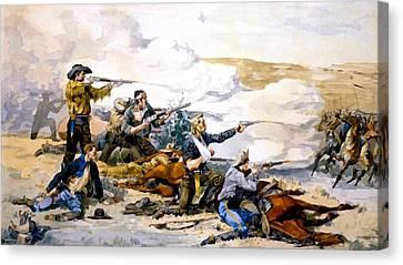Battle Of Beechers Island Canvas Print