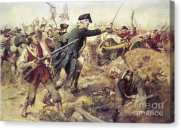 Battle Of Bennington Canvas Print by Frederick Coffay Yohn