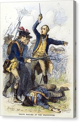 Battle Of Brandywine, 1777 Canvas Print by Granger