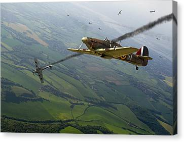 Battle Of Britain Dogfight Canvas Print