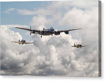 Memorial Canvas Print - Battle Of Britain - Memorial Flight by Pat Speirs