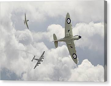 Battle Of Britain - 'one Down' Canvas Print by Pat Speirs