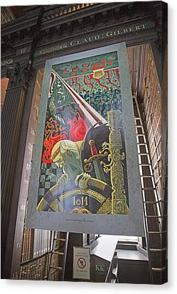 Tapestries - Textiles Canvas Print - Battle Of Clontarf by Betsy Knapp