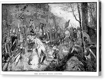 Battle Of Concord, 1775 Canvas Print by Granger