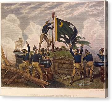 Battle Of Fort Moultrie Canvas Print by Granger