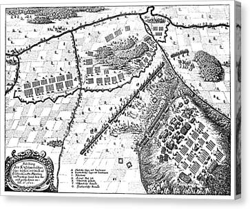 Battle Of Furth, 1632 Canvas Print by Granger