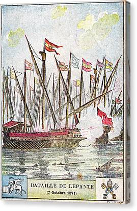 Battle Of Lepanto Canvas Print by Cci Archives