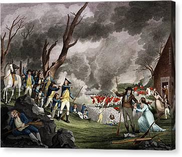 Battle Of Lexington, 1775 Canvas Print by Science Source