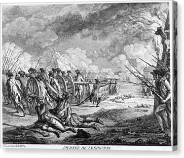 Carousel Collection Canvas Print - Battle Of Lexington, 1776 by Granger