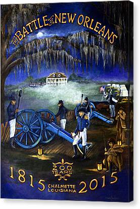 Battle Of New Orleans 200 Year Anniversary Canvas Print by Elaine Hodges