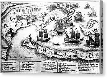 Battle Of Pensacola, 1781 Canvas Print