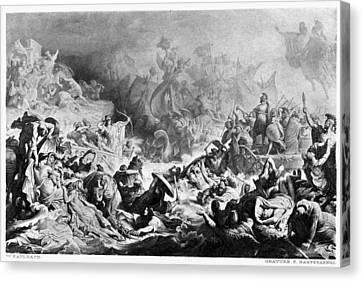 Xerxes Canvas Print - Battle Of Salamis, 480 B by Granger
