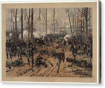 battle of Shiloh Canvas Print