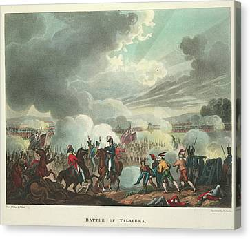 Battle Of Talavera Canvas Print by British Library