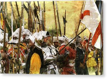 Canvas Print featuring the digital art Battle Of Tewkesbury by Ron Harpham
