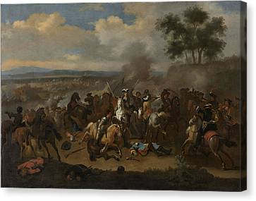 1690 Canvas Print - Battle Of The Boyne, 12 July 1690 Between Kings James II by Litz Collection