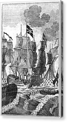 Battle Of The Saintes, 1782 Canvas Print