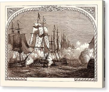 21st Century Canvas Print - Battle Of Trafalgar, Nelson, October 21st by Spanish School