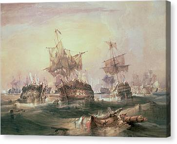 Battle Of Trafalgar Canvas Print