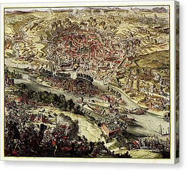Battle Of Vienna Canvas Print by Library Of Congress, Geography And Map Division