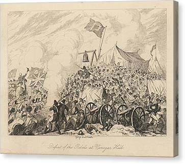 Battle Of Vinegar Hill Canvas Print by British Library