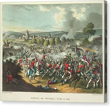 Battle Of Vittoria Canvas Print by British Library