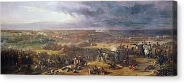 Battle Of Waterloo, 1815, 1843 Canvas Print by Sir William Allan