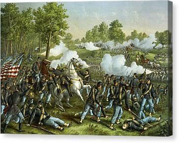 Battle Of Wilson Creek Canvas Print by Kurz and Allison