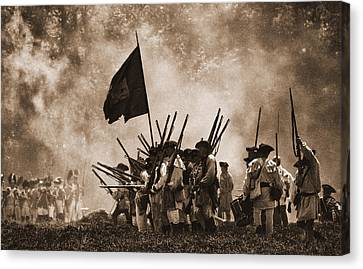 Battle Of Wyoming II Canvas Print by Jim Cook