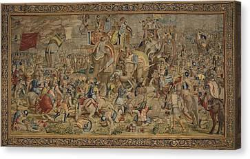 Battle Of Zama. 16th C. Spain. Madrid Canvas Print by Everett