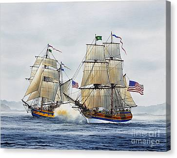 Battle Sail Canvas Print by James Williamson