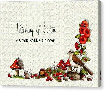 Concern Canvas Print - Battling Cancer Greeting Card by Joyce Geleynse