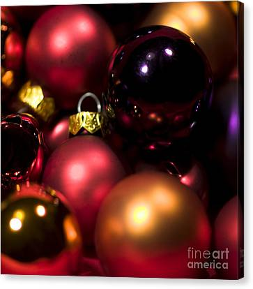 Bauble Abstract Canvas Print by Anne Gilbert