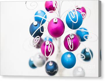 Baubles From Above Canvas Print by Anne Gilbert