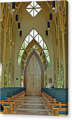 Canvas Print featuring the photograph Baughman Meditation Center - Inside Front by Farol Tomson