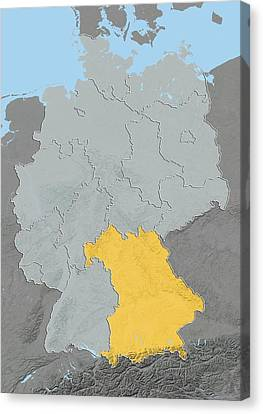 Bavaria, Germany, Relief Map Canvas Print by Science Photo Library