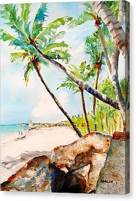 Bavaro Tropical Sandy Beach Canvas Print by Carlin Blahnik