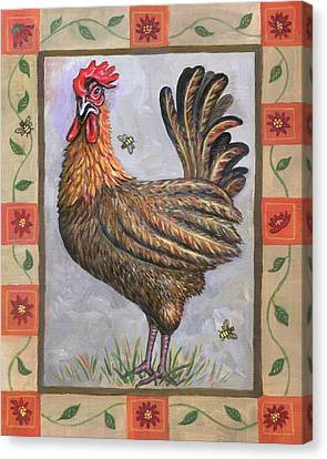 Baxter The Rooster Canvas Print by Linda Mears